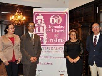 Vicente López, Antonia grao, Agustin P Figuereo y Aurora Lozano en la clausura de las jornadas