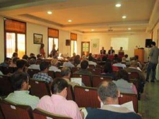 Reunión celebrada en Aracena dentro de la IV Semana del Jamón Ibérico