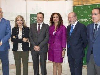 La consejera de Hacienda y Administración Pública, en la apertura de las jornadas, celebradas en Sevilla