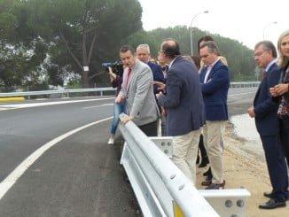 El delegado del Gobierno ha visitado las obras concluidas del enlace de Umbrete-Bollullos