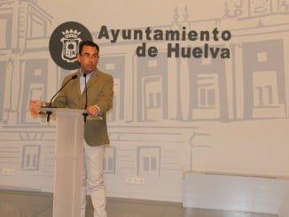 El portavoz del Grupo Municipal del PP en el Ayuntamiento de Huelva, Ángel Sánchez