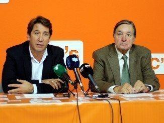 Ruperto Gallardo, presidente del grupo municipal de Ciudadanos junto a Enrique Figueroa