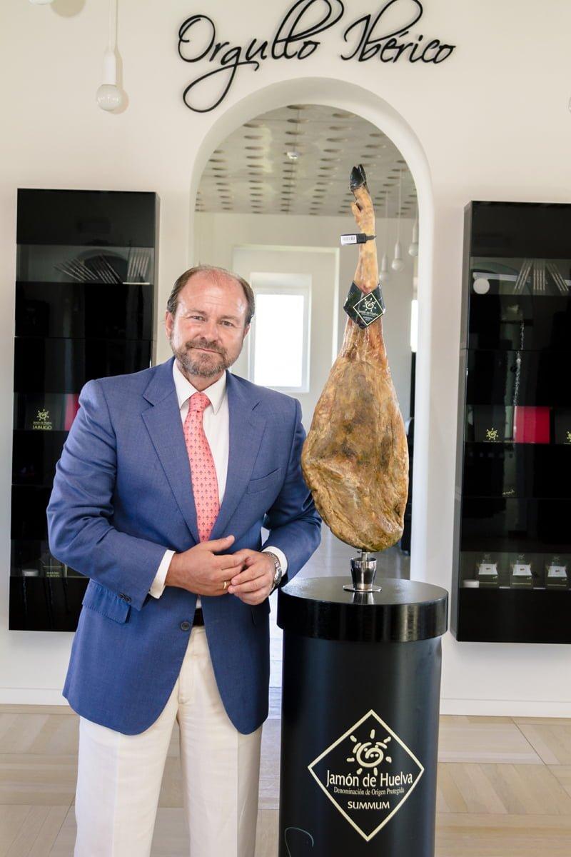 El presidente de la DOP Jabugo, Guillermo García Palacios Álvarez, valora como el importante respaldo que se recibe desde Origen España