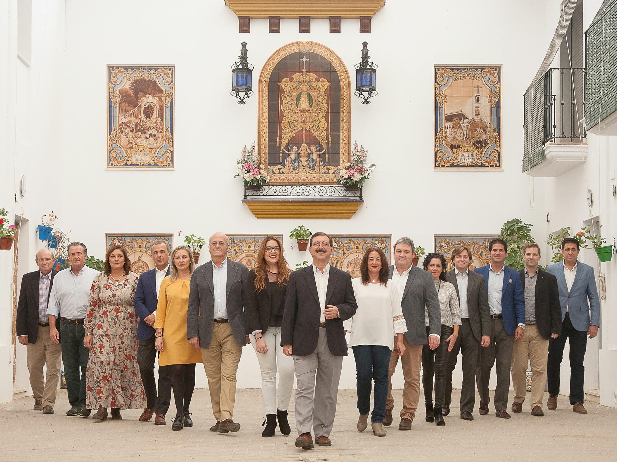 Integrantes de la candidatura de Antonio Sánchez de Piña.