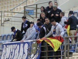 El grupo de aficionados hasta El Ejido salió muy decepcionado de la actuación del equipo que terminó sufriendo una goleada preocupante.