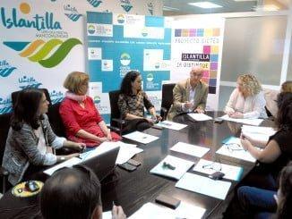 Mesa de Calidad del Consorcio de Turismo de la Costa Occidental de Huelva, reunida hoy viernes en Islantilla