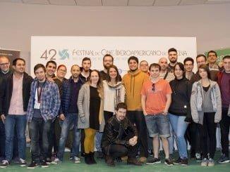Los jóvenes creadores se encuentran en el Festival de Cine de Huelva.
