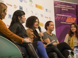 Un momento del encuentro con creadoras iberoamericanas