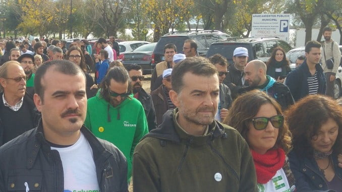 Antonio Maillo en la manifestación SalvemosDoñana, del pasado sábado