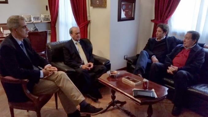 Antonio Ponce y Arsenio Martínez junto a Ruperto Gallardoy Enrique Figueroa