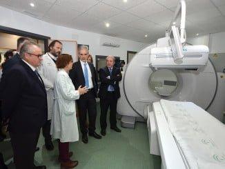Aquilino Alonso, durante su visita a Huelva, conoce la Gammacámara
