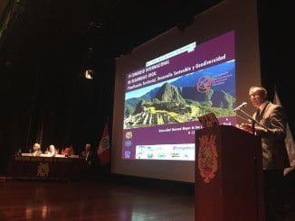 El presidente de la Diputación en la inauguración del IV Congreso Internacional de Desarrollo Local en Perú