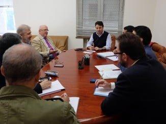 En la imagen, reunión para ultimar el Plan de Empleo en el Ayuntamiento de Huelva