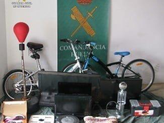 La Guardia Civil ha conseguido recuperar gran parte de los objetos robados