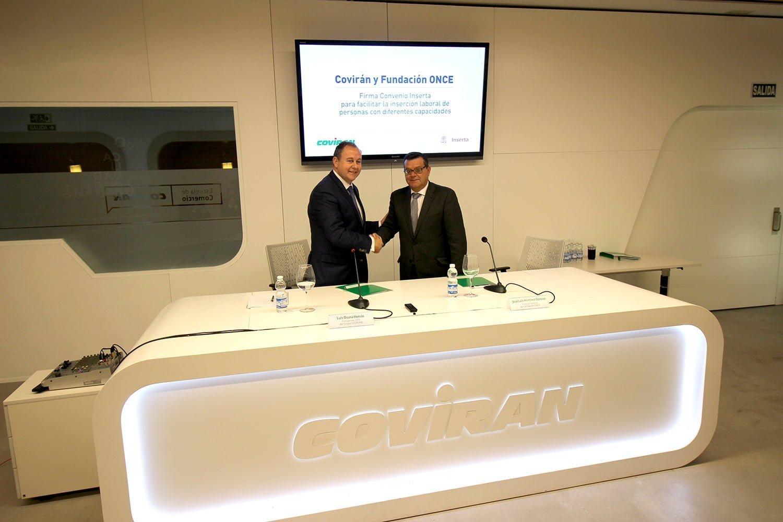 El acuerdo ha sido suscrito por el presidente-CEO del Grupo Covirán y el director general de Fundación ONCE