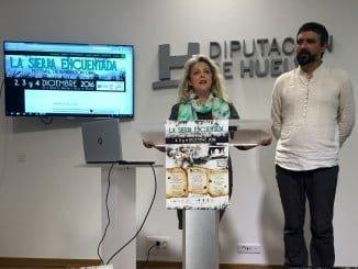 La diputada de Cultura, Lourdes Garrido con el promotor del evento, Diego Magdaleno