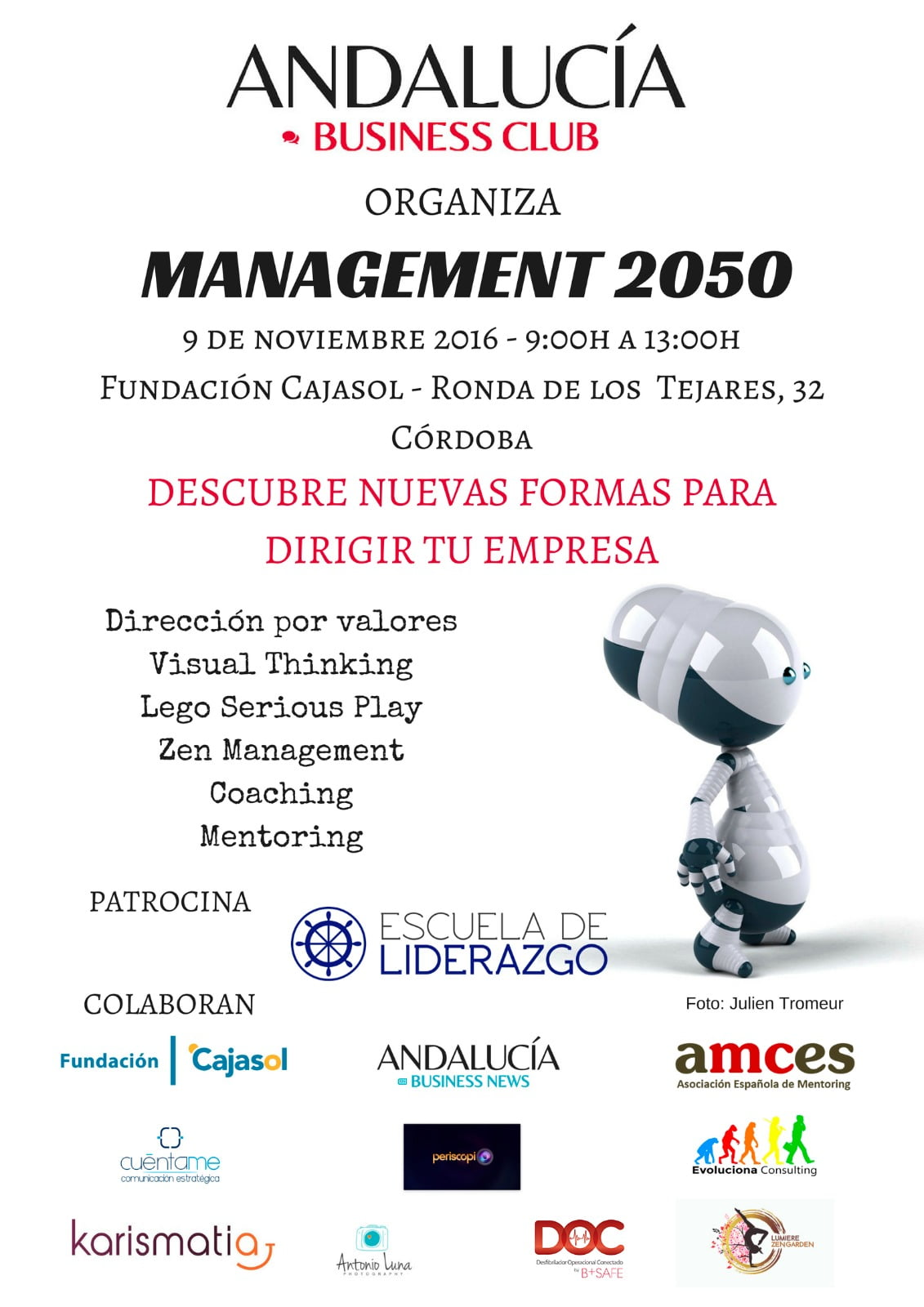 Cartel anunciador de la Management 2050