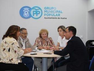 El Grupo Popular se ha reunido con la Asociación de Amigos del Museo Onubense