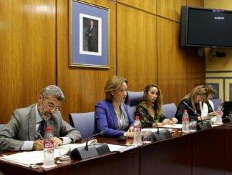 Carmen Ortiz durante la Comisión parlamentaria sobre Presupuesto 2017