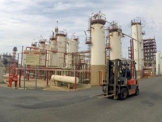 Instalaciones de  Cepsa en la Planta Química de Palos