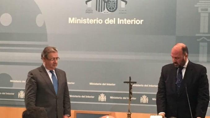 Toma de posesión de Francisco 'Curro' Pérez como Jefe de Gabinete del ministro del Interior.