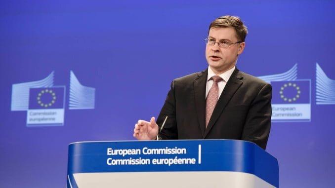 El vicepresidente de la Comisión Europea para el Euro y el Diálogo Social, Valdis Dombrovskis