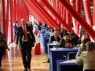 Zona reservada para las entrevistas entre países en IMEX