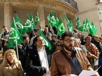 Retrospectiva de concentración de funcionarios de la Junta, reclamando sus derechos