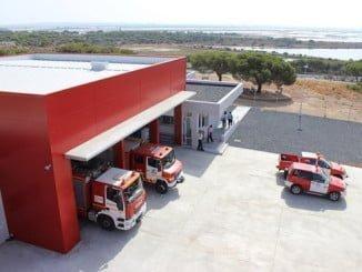 Bomberos del Consorcio de Huelva han participado en las labores de extinción del incendio