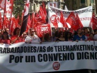 Los Contact Center, de huelga para protestar por los recortes de derechos sociales y laborales