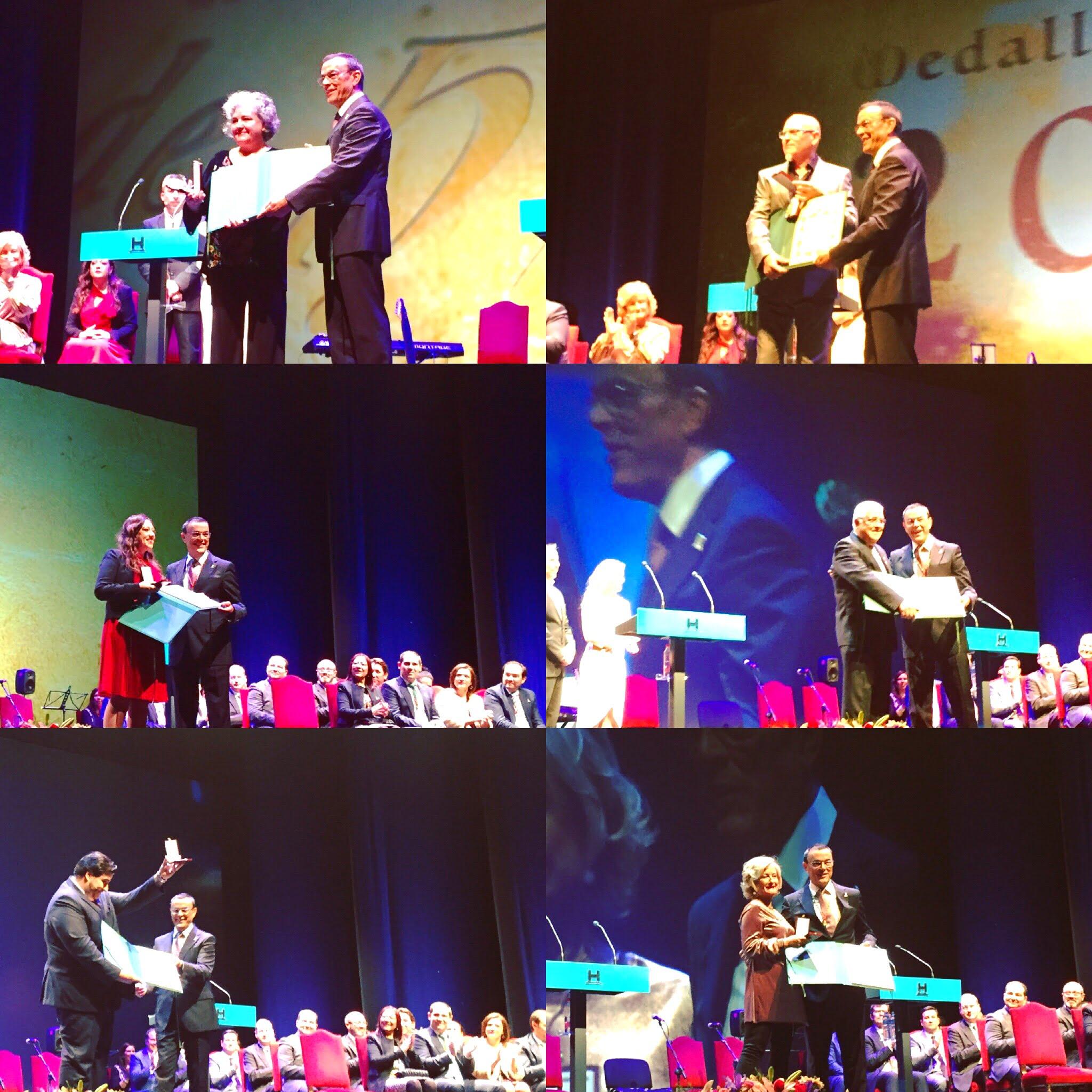 En el acto se ha hecho entrega de la Medalla de Oro a los galardonados de este año