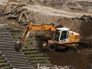 La excavadora ha dañado un cable subterráneo