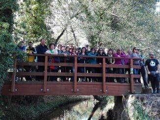 El grupo ha podido descubrir la belleza paisajística de la localidad serrana