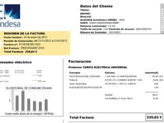 El recibo del usuario medio ha subido 14,75 euros con respecto a abril