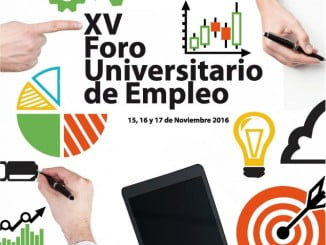 Cartel anunciador del XV Foro Empleo en la Universidad de Huelva