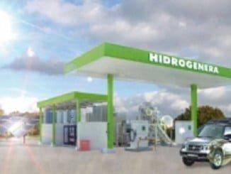 el proyecto hércules consiste en crear una estación de servicio que dispensa hidrógeno producido a partir de energía solar y de un vehículo eléctrico propulsado con pila de combustible alimentado de dicho hidrógeno