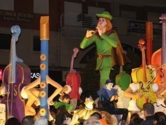 Imagen de una de las carrozas de la Cabalgata de Reyes de ediciones pasadas