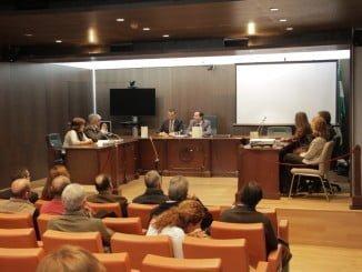 Caraballo, junto al presidente de la Audiencia Provincial en el V Encuentro con los Jueces y Secretarios de Paz