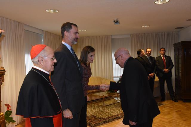 Un momento del encuentro de José Vilaplana con los Reyes