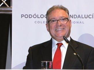 El presidente del Colegio Profesional de Podólogos de Andalucía, Jorge Barnés