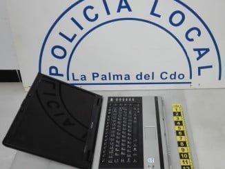 Ordenador recuperado por Policía Local de La Palma.