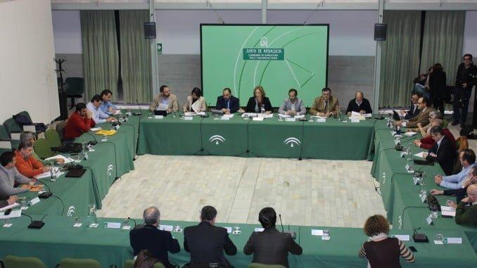 Momento de la reunión de la Mesa del Ibérico