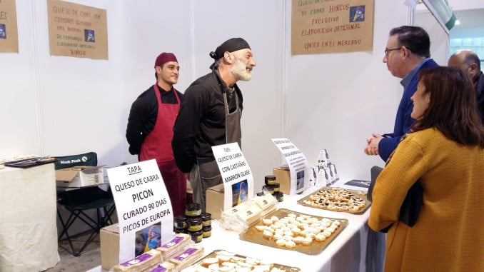 En Aracena se exponen quesos de la provincia pero también de otros lugares de España.