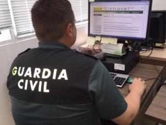 La Guardia Civil detuvo a los cuatro participantes en el atraco a mano armada  en una vivienda de Moguer