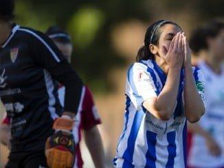 Decpción las jugadoras del Sporting de Huelva que buscaban no romper la buena racha de los últimos partidos.
