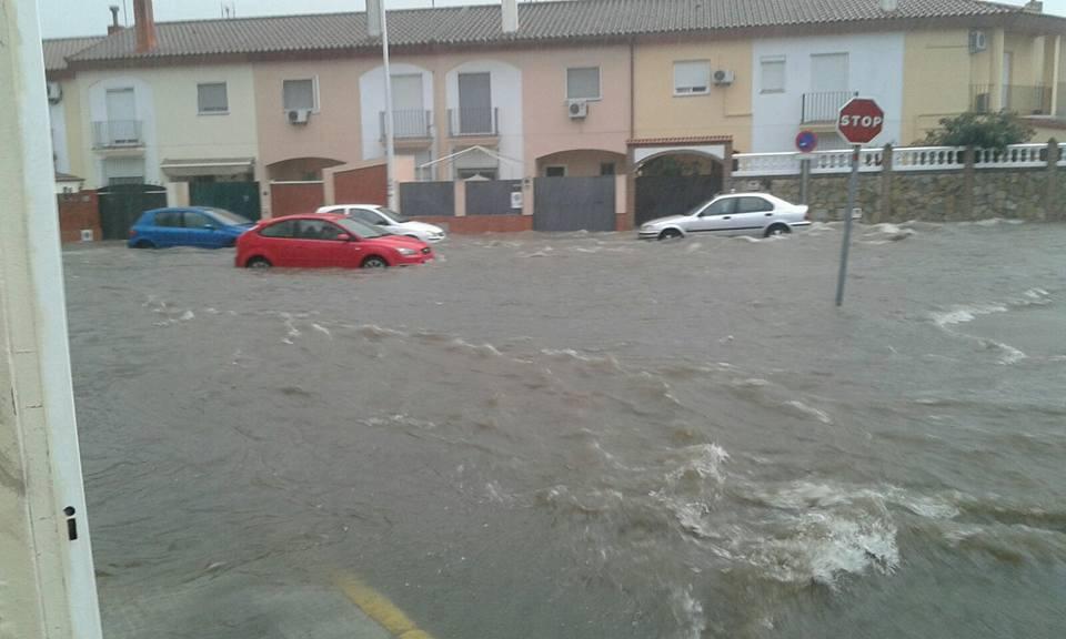 Aljaraque es otra de las localidades seriamente afectada por las lluvias