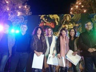 Carlos Guarch junto a las propietarias de lso comercios ganadores de esta segunda edición