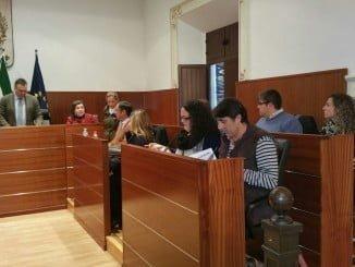 Concejales de Ciudadanos en un pleno en el Ayuntamiento de La Palma