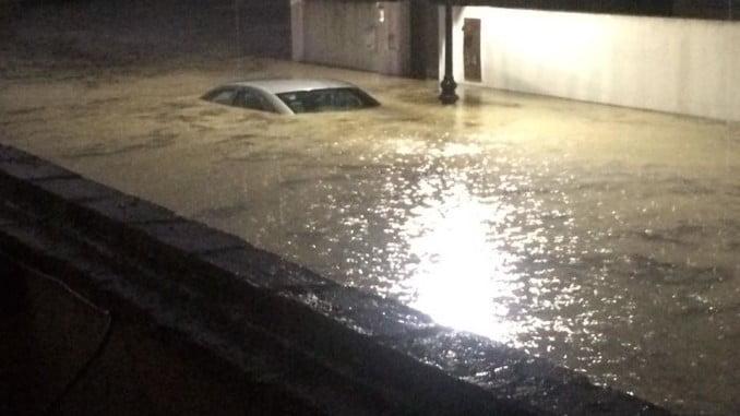 El municipio de Aljaraque, uno de los más afectados por el temporal, sufrió graves daños
