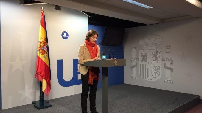 García Tejerina en Bruselas, tras el acuerdo alcanzado por los ministros de Pesca de la UE